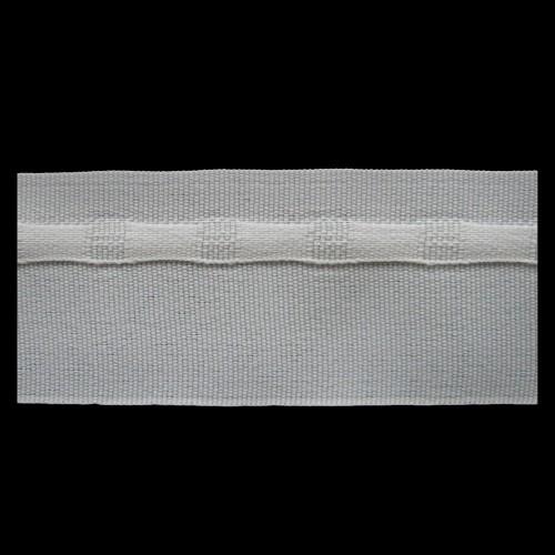 Шторная тесьма №040 duz 40мм цв.белый(в рул.100м)