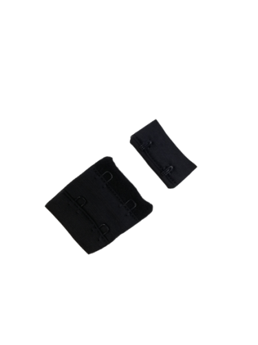 Бельевые застежки на ткани 2х2 34мм цв.№332 т.синий(в упак.100шт)