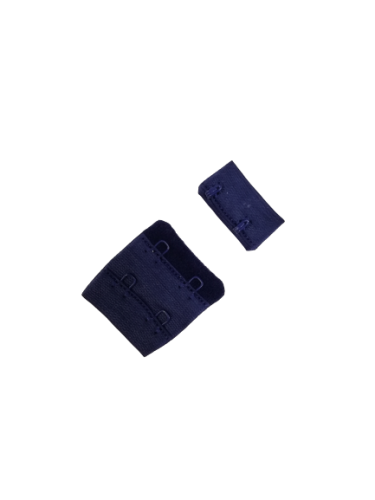 Бельевые застежки на ткани 2х2 34мм цв.№330 т.синий(в упак.100шт)