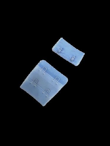 Бельевые застежки на ткани 2х2 34мм цв.голубой(в упак.100шт)