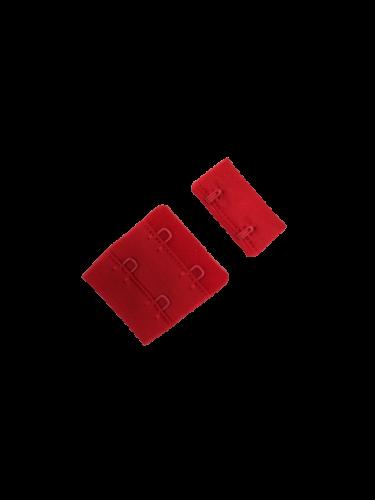 Бельевые застежки на ткани 2х2 34мм цв.красный(в упак.100шт)