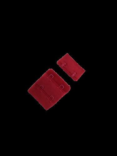 Бельевые застежки на ткани 2х2 34мм цв.т.красный(в упак.100шт)