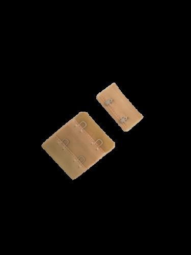 Бельевые застежки на ткани 2х2 34мм цв.бежевый(в упак.100шт)
