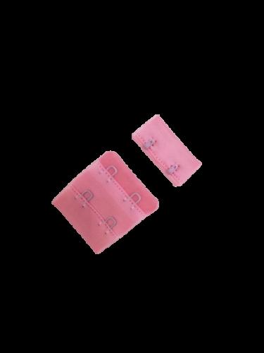 Бельевые застежки на ткани 2х2 34мм цв.розовый(в упак.100шт)