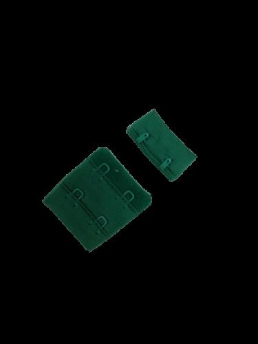 Бельевые застежки на ткани 2х2 34мм цв.зеленый(в упак.100шт)