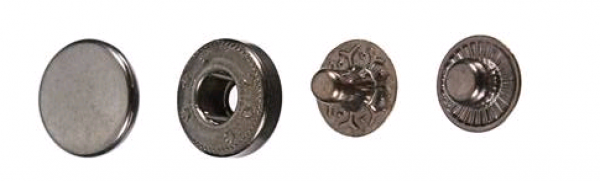Кнопка стальная №54 12,5мм цв.оксид(в упак.1440шт)