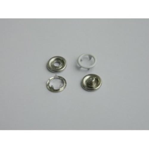 101 Кнопка нержавеющая трикотажная кольцевая 09,5мм цв.белый(в упак.1440шт)