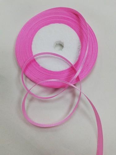 134 Атласная лента 6мм цв.светло-розовый(в рул.33м)