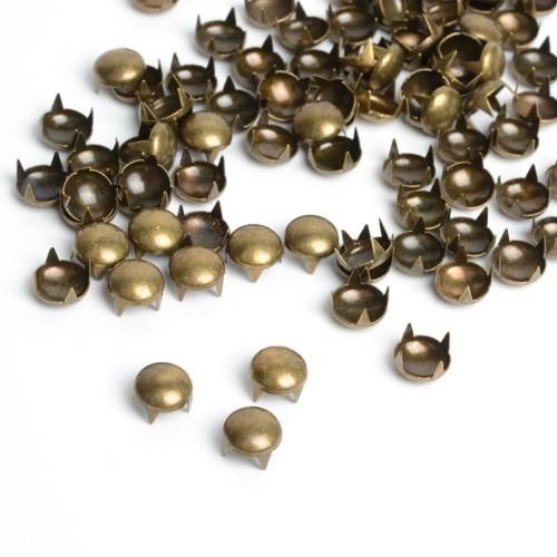 Украшения металлические на шипах круглые 11,5мм цв.антик(в упак.2500шт)