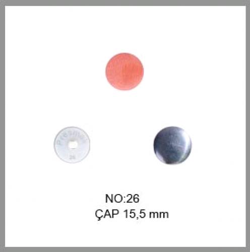 Заготовка для обтяжки пуговиц на пластиковой ножке №26 16мм цв.белый(в упак.500шт)