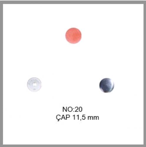 Заготовка для обтяжки пуговиц на пластиковой ножке №20 12,5мм цв.белый(в упак.1000шт)