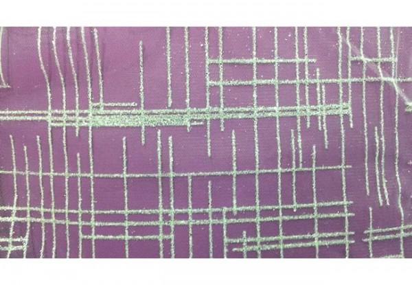 SRBL01 Ткань свадебная с блестками и квадратами на сетке шир.150см цв.белый(в рул.50м)