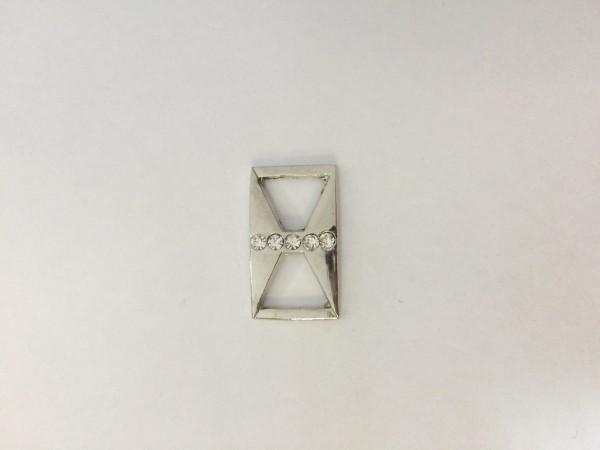 2600TMR Пряжка декоративная цв.никель(в упак.100шт)