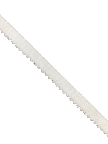 0200KPD Бельевая резинка 10мм цв.белый(в рул.100м)