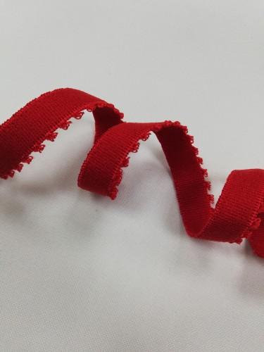0200KPD Бельевая резинка 10мм цв.красный(в рул.100м)