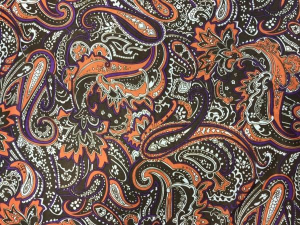 1222-3 Ткань подкладочная огурчики 190Т 150см цв.коричневый(в рул.100м)