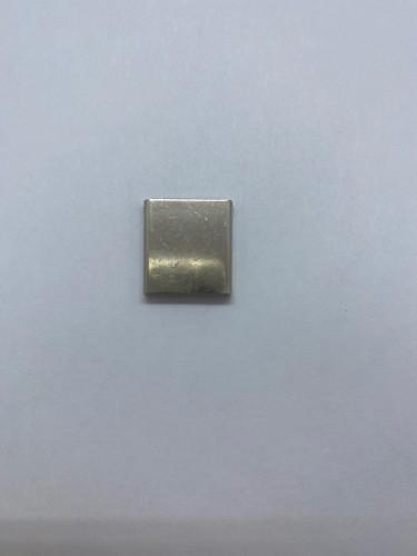 1715 Зажим для шнура плоский блестящая 15мм цв.никель(в упак.500шт)