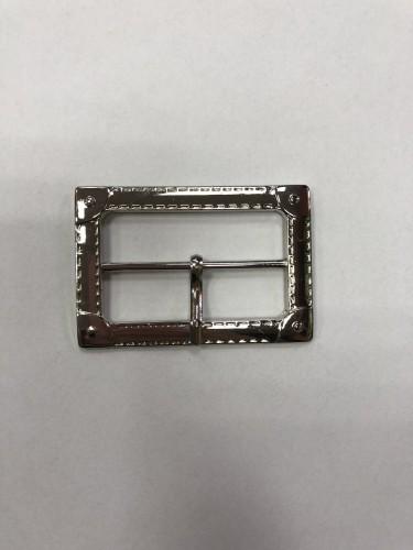8597 Пряжка металлическая 4,0см цв.никель(в упак.100шт)