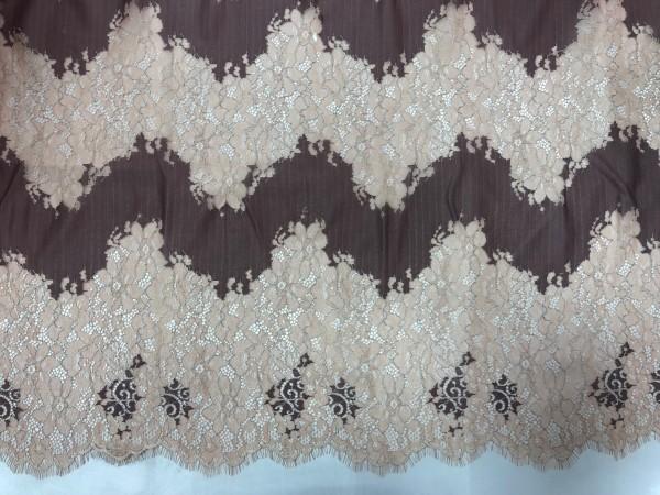 11076AD Кружевное-полотно реснички шир.125см цв.somon(в упак.3м)