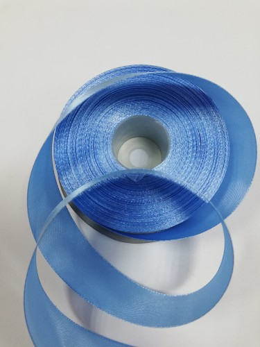 184 Атласная лента 25мм цв.голубой(в рул.33м)