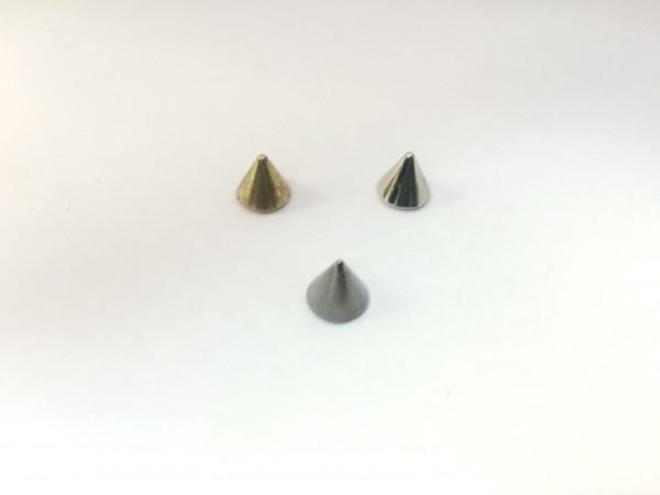 11205RR Шипы металлические на гвоздике 8мм цв.ч.никель