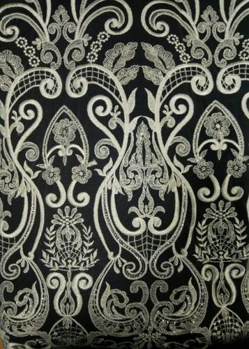 GX1206 Ткань свадебная с паетками на сетке шир.135см цв.белый(в рул.14,5м)