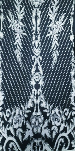 SPLTL42 Ткань свадебная с блестками на сетке шир.150см цв.белый(в рул.20м)
