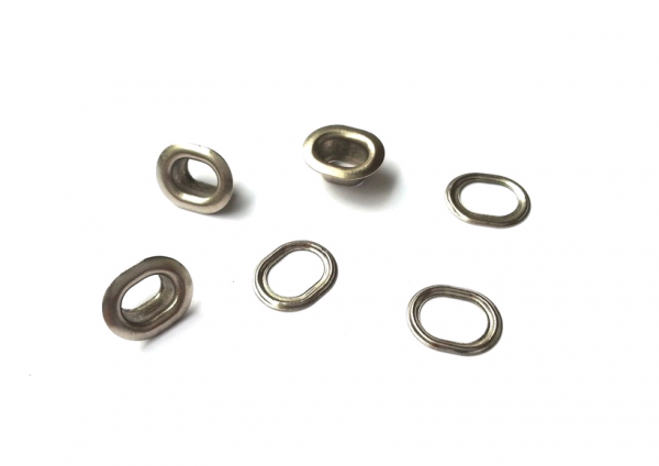 Люверсы овальные стальные 10мм цв.никель(в упак.1000шт)
