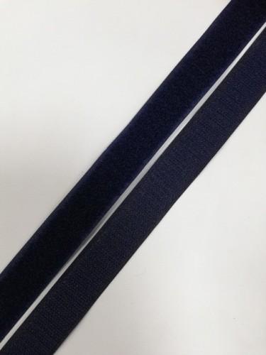 Липучка 025мм цв.т.синий(в рул.25м)