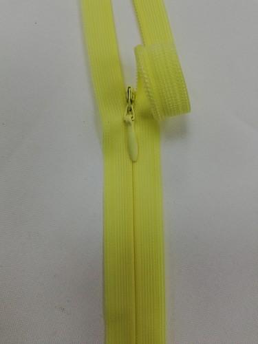 0054 Молния потайная Т3 25см цв.св.желтый(в упак.50шт)