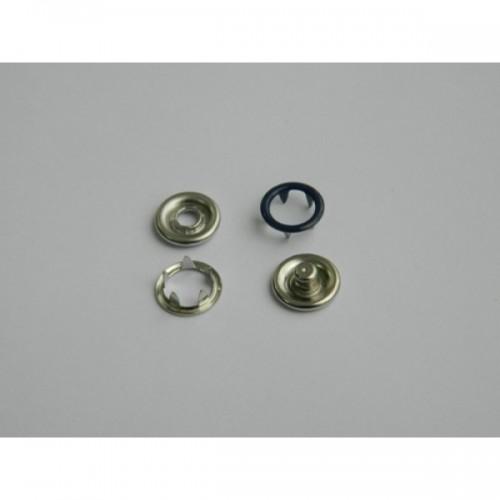 225 Кнопка нержавеющая трикотажная кольцевая 09,5мм цв.т.синий(в упак.1440шт)