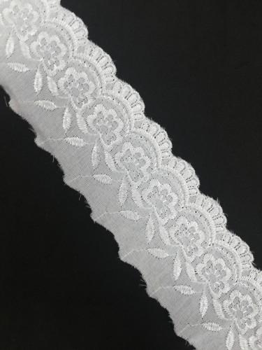 840F Шитье шир.6,5см цв.белый(в упак.13,7м)