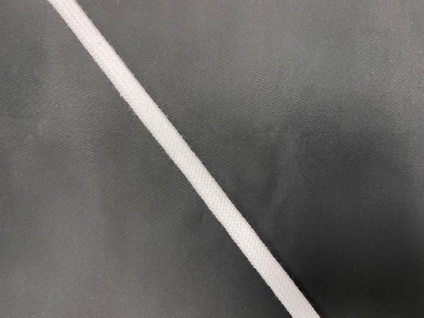 Шнур хлопковый плоский 10мм цв.белый(в рул.100м)