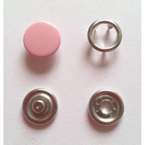 134 Кнопка нержавеющая трикотажная закрытая 09,5мм цв.св.розовый(в упак.1440шт)
