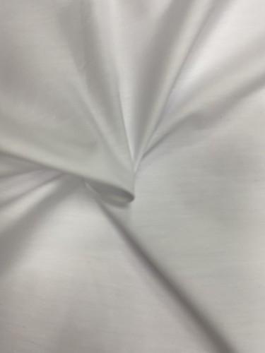 113G1056 Ткань хлопок дакрон однотонный 60%хлопок 40%полиэстер 150см цв.оптический белый(в рул.114)