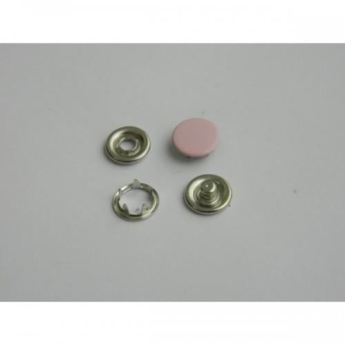 132 Кнопка нержавеющая трикотажная закрытая 09,5мм цв.бледно-розовый(в упак.1440шт)