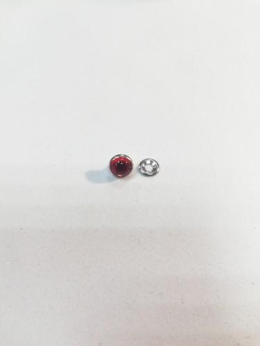 Хольнитен декоративный нержавеющий с камнем 9мм цв.красный(в упак.144шт)
