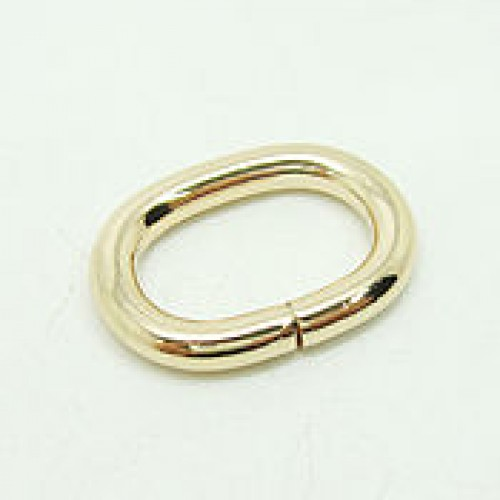 Кольцо овальное 4*15*25мм цв.золото