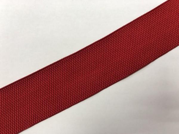 Резинка поясная 50мм цв.красный(в рул.25м)