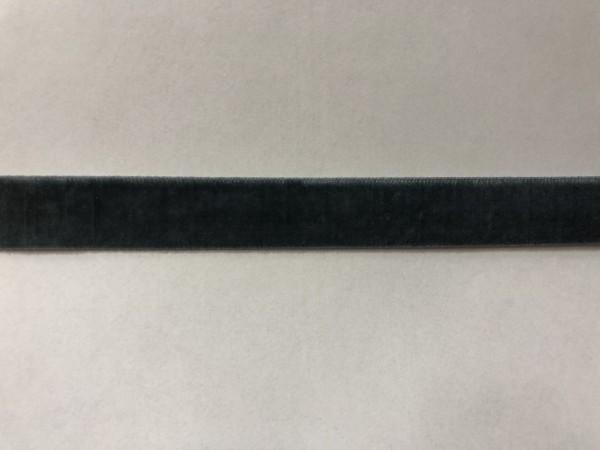 Бархатная лента 15мм цв.серый(в рул.100м)