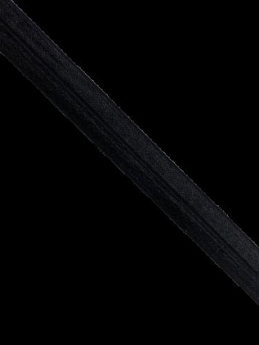 0450KTP Бельевая резинка окантовочная блестящая 20мм цв.черный(в рул.100м)