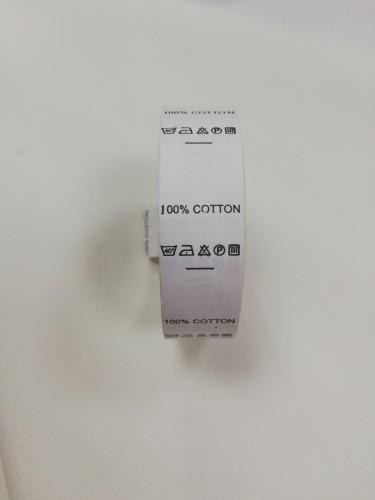 Составник 100% COTTON цв.белый(в рул.500шт)
