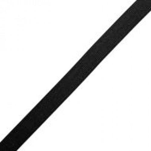 Резинка вязаная стандартная 020мм цв.черный(в рул.25м)