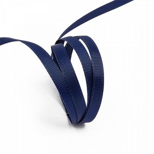 Репсовая лента блестящая 10мм цв.т.синий(в рул.200м)