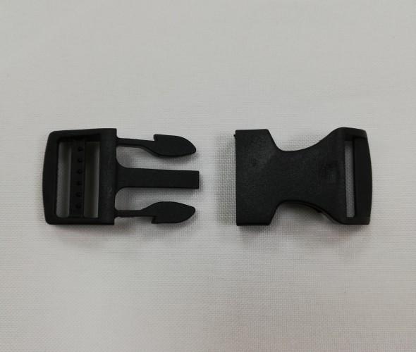 Фастекс пластиковый №9037 15мм цв.черный(в упак.100шт)