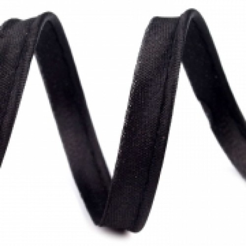 322 Кант атласный цв.черный(в рул.72 Yds)