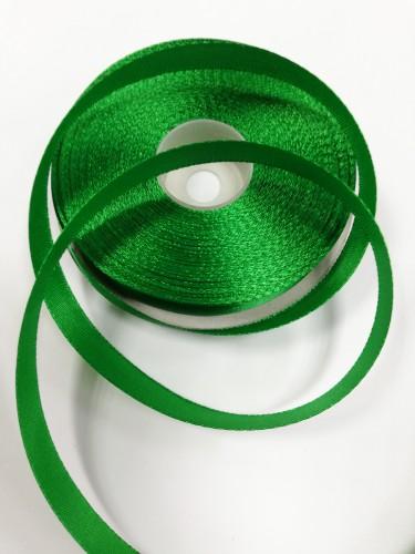 243 Атласная лента 12мм цв.зеленый(в рул.33м)