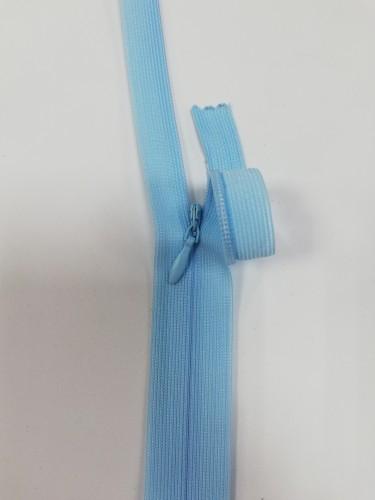 026С Молния потайная Т3 60см цв.голубой(в упак.100шт) Китай