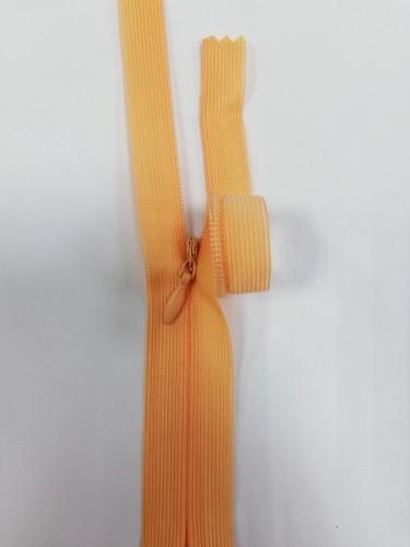 114С Молния потайная Т3 60см цв.св.оранжевый(в упак.100шт) Китай