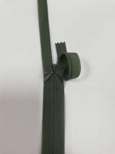 190С Молния потайная Т3 60см цв.хаки(в упак.100шт) Китай